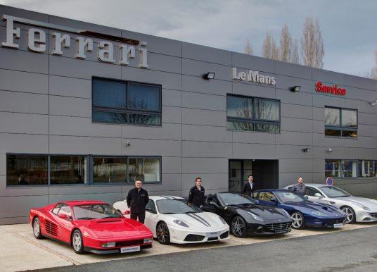 Ferrari ouvre un point service au Mans