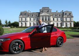 Essai à Tours, Bernard Machefer prend le volant de l'Alfa Roméo Giulia