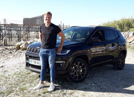 À La Rochelle, Wiaan Liebenberg découvre l'hybride version Jeep