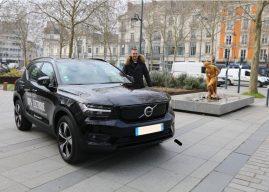 Le Volvo XC40 Recharge P8  à l'essai à Rennes