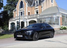 Fabien Courtial à bord de la nouvelle Mercedes Classe C