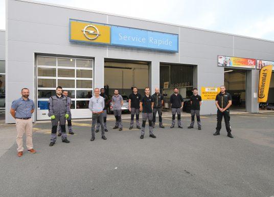 Opel du sang neuf à l'après-vente